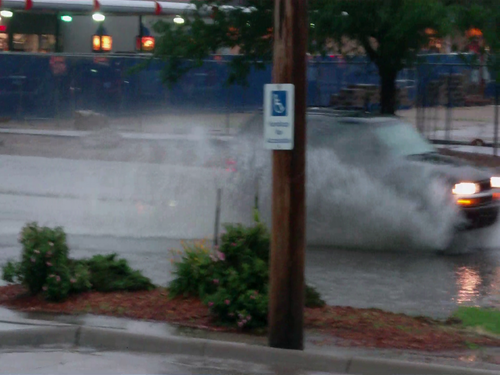 Heavy Rainfall Causes Flooding Problems In Garden City