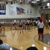 buster volleyball home opener